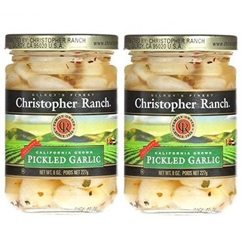 Christopher Ranch PICKLED GARLIC – Famous Award Winning Heirloom Garlic (8 Oz (Pack of 2))