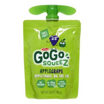 Materne GoGo SqueeZ Apple Grape Applesauce on the Go, 3.2 oz, 12 count