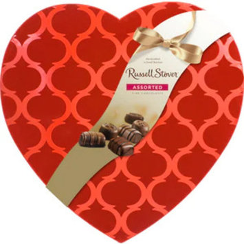 Russell Stover Flocked Argyle Heart, 30 OZ
