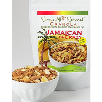 Nana's All Natural - Jamaican Me Crazy - 12 Oz Gluten Free Granola with Banana Chips, Cashews and Coconut