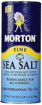 Morton Sea Salt Morton Fine Mediterranean Sea Salt 17.6 oz. (pack of 4)