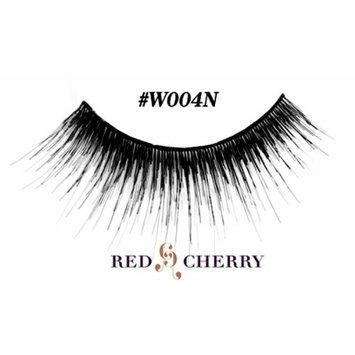 Red Cherry #W004N False Eyelashes, Black Wispy (1 Pair) by Red Cherry
