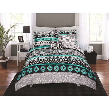 Mainstays Aztec Scarf Bed in a Bag Coordinating Bedding Set