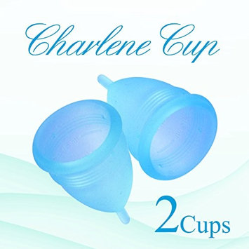 2 Charlene Menstrual Cup with 2 Free Bags - (Just Launched) (Small, Blue)