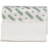 Boardwalk BWK23GREEN White Green Plus Folded Towels Multi-Fold White
