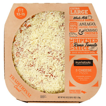 Marketside 5 Cheese Pizza, Traditional Crust, Extra Large, 40.1 oz