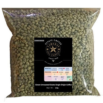Unroasted Green Coffee Beans, 3 Lbs Bulk Bags - Caturra Single Origin Laderas del Tapias Colombia [Caturra Unroasted Green Beans 3 lbs]