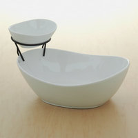 Food Network Tiered Chip & Dip Set (White)