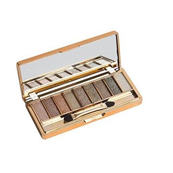 Eyeshadow Pallet HP95(TM) 9 Colors Shimmer Eye Shadow Palette-Earth tone+Makeup Brush Set