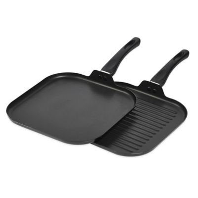 2-Piece Aluminum Grill and Griddle Set