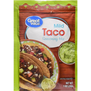 Wal-mart Stores, Inc. Great Value Mild Taco Seasoning Mix, 1 oz