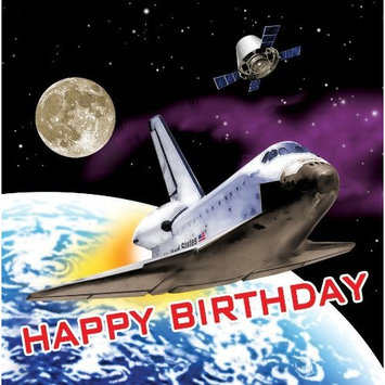 Space Odyssey Happy Birthday Lunch Napkins 18 Pack