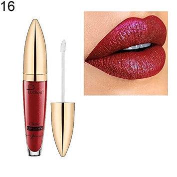 Braceus Sexy Lip Gloss Glitter Metallic Shimmer Women Makeup Liquid Lipstick Cosmetics