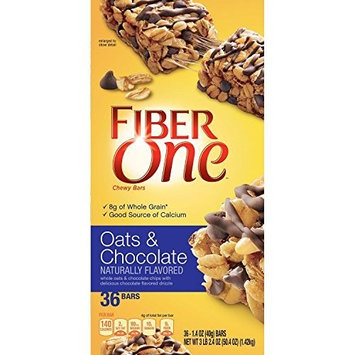 Fiber One Oats & Chocolate Chewy Bars (36 ct.) by Fiber One