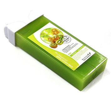 Kiwi Fruit Taste Professional Roll-on Refillable Wax Carriage Waxing Roll Hair Removal Cream Supplier for Hot..., Ship from USA,Brand RY
