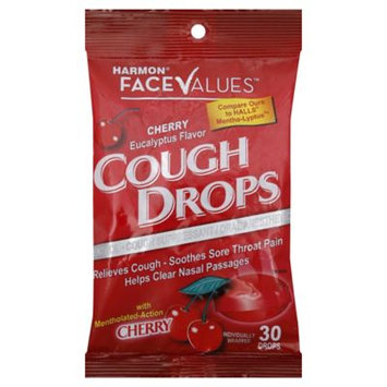 Harmon Face Values 30-Count Cough Drops in Cherry Eucalyptus