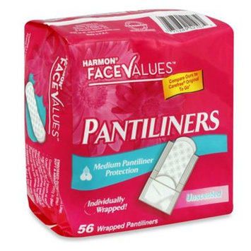 Harmon Face Values 56-Count Individually Wrapped Pantiliners Unscented