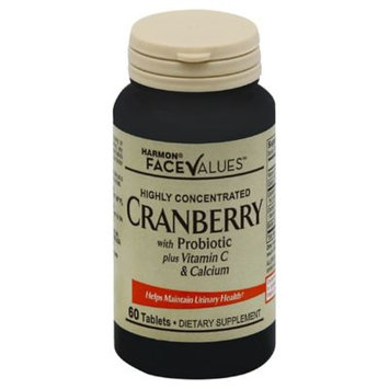 Harmon Face Values 60-Count Cranberry with Probiotic Plus Vitamin C Tablets