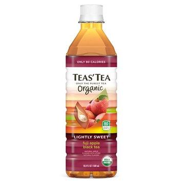 Teas' Tea Organic Lightly Sweet Fuji Apple Black Tea 16.9 oz Plastic Bottles - Pack of 12