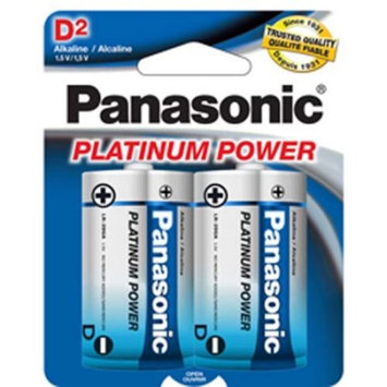 Panasonic D Size Platinum Power Alkaline Battery LR20XP/2B