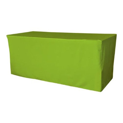 LA Linen TCpop-fit-96x30x30-LimeP84 2.77 lbs Polyester Poplin Fitted Tablecloth Lime