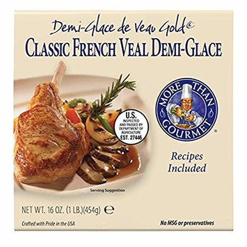 More Than Gourmet Demi-Glace De Veau Gold, Classic French Veal Demi-Glace, 16 Oz