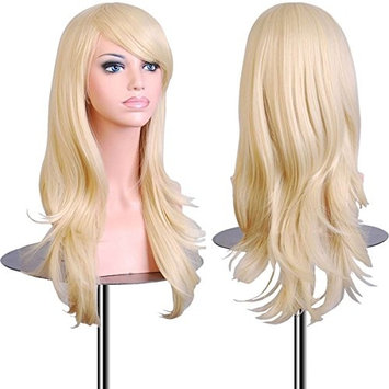 EmaxDesign Wigs 28 Inch Cosplay Wig For Women With Wig Cap & Comb(Light Blonde)