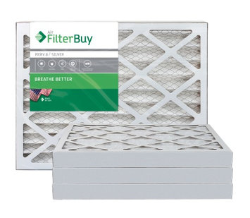 AFB Silver MERV 8 13x20x2 Pleated AC Furnace Air Filter. Filters. 100% produced in the USA. (Pack of 4)