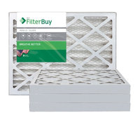 AFB Silver MERV 8 13.25x13.25x2 Pleated AC Furnace Air Filter. Filters. 100% produced in the USA. (Pack of 4)
