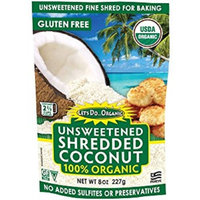Let's Do Organic Shredded, Unsweetened Coconut, 8-Ounce Packages