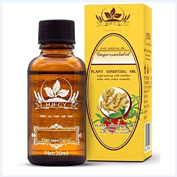 ESSENTIALS New Lymphatic Drainage Ginger Oil [ 100% Pure Natural ] - 1 Bottle (1.1 fl. oz.)