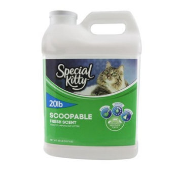 Special Kitty Scoopable Fresh Scent Tight Clumping Cat Litter, 20 Lb