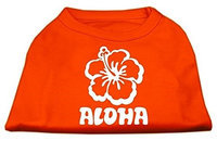Ahi Aloha Flower Screen Print Shirt Orange XS (8)