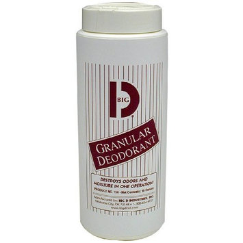 Big D 150 Granular Deodorant Moisture Absorbent, Lemon Fragrance, 16 oz (Pack of 12) - Absorbs accidental spills for easy clean-up - Ideal for use in garbage dumpsters, trash cans, kennels