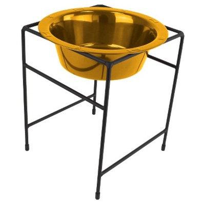 Platinum Pets Single Diner Stand With Rimmed Dog Bowl - 54oz
