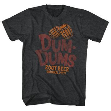 Dum Dums Root Beer Flavor Original Pops Sugar Candy Lollipop Adult T-Shirt Tee [clothing_size_type: clothing_size_type-regular]