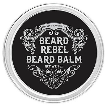 Beard Balm for Men, Beard Rebel by Liberty Premium Grooming Co. ※ Best Beard Butter For Men and Wax Softener Leave-In Conditioner for Men -...