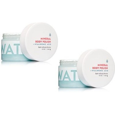 Bath and Body Works 2 Pack Water Hyaluronic Acid Mineral Body Polish.8 Oz