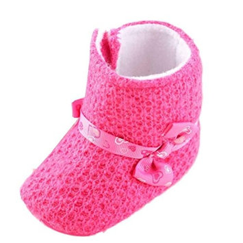 For 0-18 Mnoths Girls Boys,Clode® Toddler Baby Knitting Cotton Soft Sole Snow Boots Soft Crib Shoes Toddler Boots