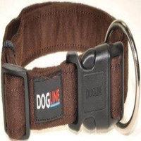 Dogline M8005-6 15-25 L x 1 W inch Comfort Microfiber Flat Collar, Brown