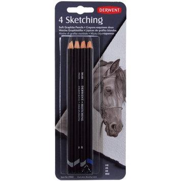 Reeves Derwent Sketch Pencils, 4/Pkg, HB, 2B, 4B, 8B