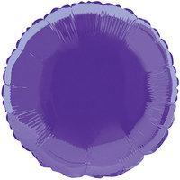 Foil Balloon, Round, 18 in, Dark Purple, 1ct