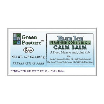 Green Pasture's Blue Ice CALM BALM Deep Muscle and Joint Rub 1.75oz Jar
