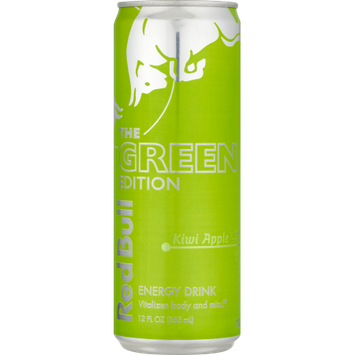 Red Bull Green Edition, Kiwi Apple Energy Drink, 12 Fl Oz Cans, 24 Pack