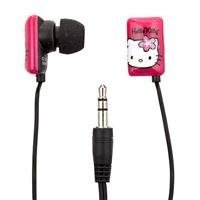 Hello Kitty HK-11429 Earbud Headphones Pink/black