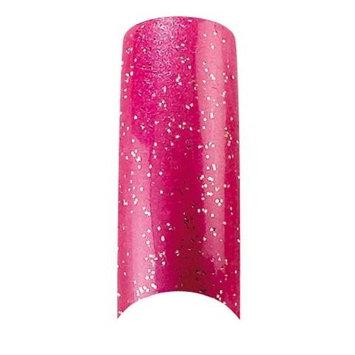 Cala Professional Glitter Nail Tips in Hot Pink # 87-826 100 PCS + A-viva Eco Nail File