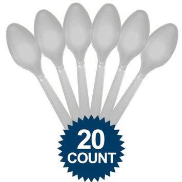 Amscan Silver Premium Spoons