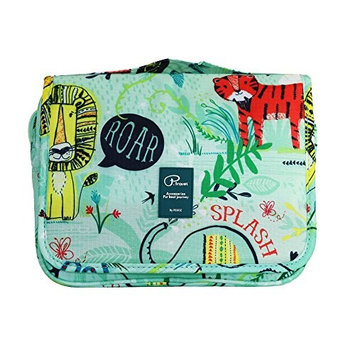 Travel Toiletry Bag with Hanging Hook for Men and Women Cosmetic Bag Oganizer with Handle Make up Bag Shower Bag Cute Design for Travel Accessories (Green)