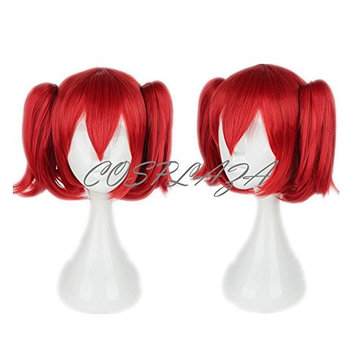 COSPLAZA Cosplay Wig Red Ponytail Hair Halloween Synthetic Wigs