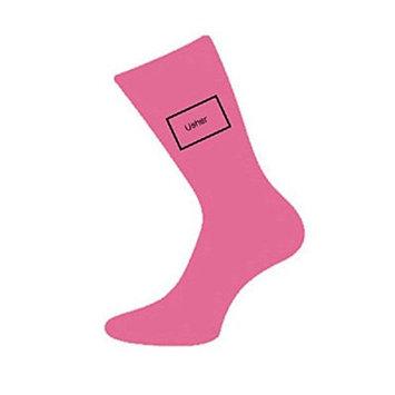 Hot Pink Usher Wedding Socks (X6S112)
